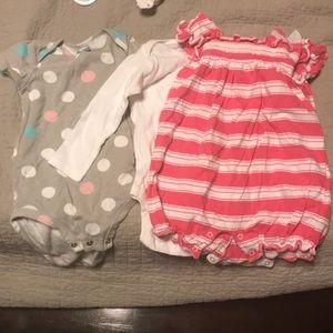 Three size 6-12 month onsies.